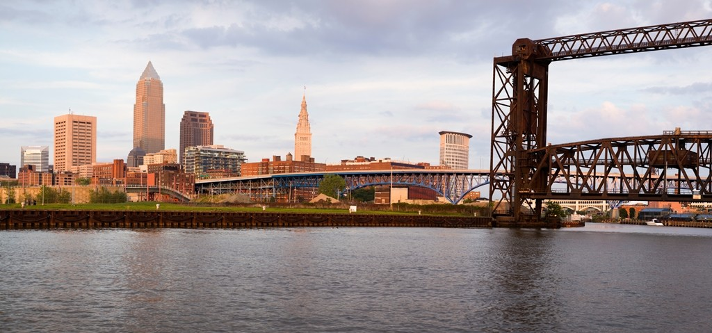 Panoramic view of downtown Cleveland